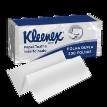 Papel Toalha Kleenex Folha Dupla - 200 Folhas - KIMBERLY CLARK