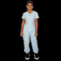 Pijama Cirúrgico Feminino BioSafety Azul - FUN WORK