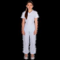 Pijama Cirurgico Feminino Biosafety Branco - FUN WORK