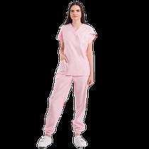 Pijama Cirúrgico Feminino Blush Rosa - DRA. CHERIE