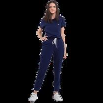 Pijama Cirúrgico Feminino Impulse Azul Marinho - DRA. CHERIE
