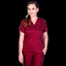 Pijama Cirúrgico Feminino Paris Vinho - BioStilo