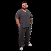 Pijama Cirúrgico Unissex Plus Size - Grafite - FUN WORK