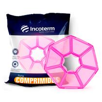 Porta Comprimidos Básico Semanal Rosa - INCOTERM