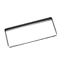 Bandeja Aço Inox Millenium 22 x 17 x 1,5cm