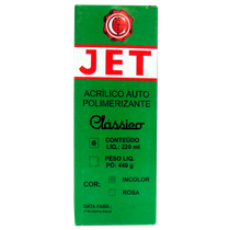Resina Acrílica Jet Pó 220g Incolor