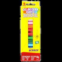 Lápis de Cera - Curto 15 Cores