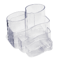 Porta Canetas, Clips e Lembretes - Cristal