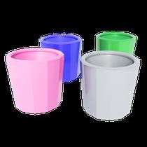 Pote Dappen Plástico Autoclavável Color