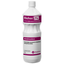 Antisséptico Riohex 2% - Solução Alcoólica 1L