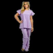 Pijama Cirúrgico Feminino Manga Curta Lilás