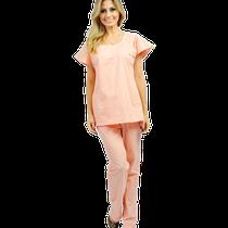 Pijama Cirúrgico Feminino Manga Curta Salmão - P
