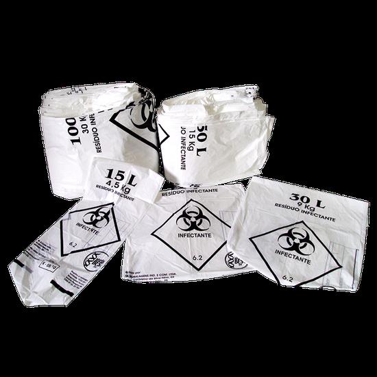 Saco p/ Lixo Hospitalar - 15L/4,5Kg
