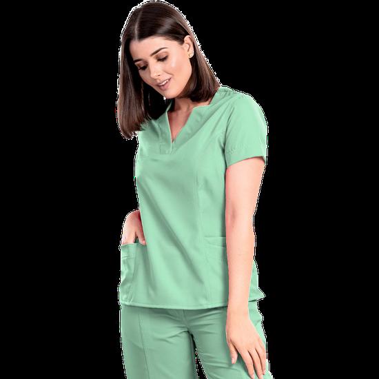 Blusa Scrub Feminina Gabardine Verde - NAMASTÊ