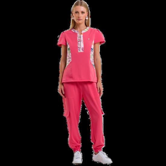 Pijama Cirúrgico Feminino Patrícia by PatBo - Pink Coral - DRA. CHERIE