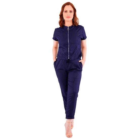 Pijama Cirúrgico Feminino Vision Azul Marinho - M - FUN WORK