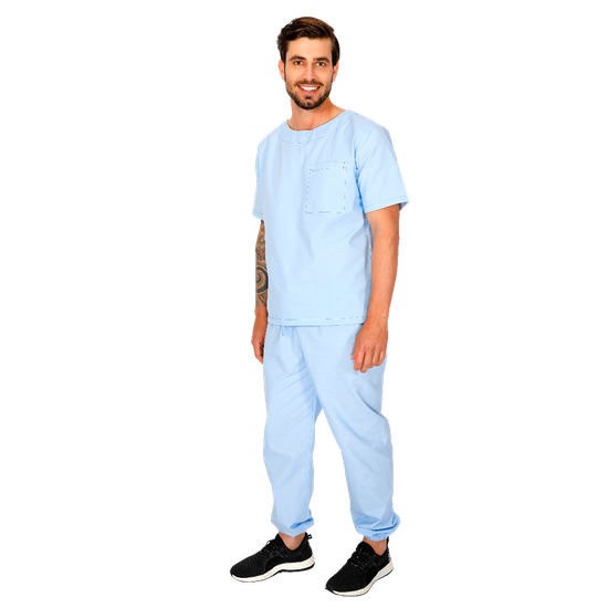 Pijama Cirúrgico Masculino BioSafety Azul - FUN WORK