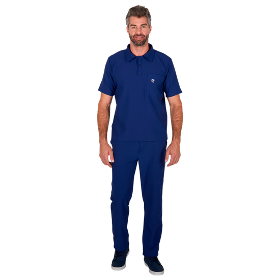 Pijama Cirúrgico Masculino Polo Mr. Kitsch Azul Marinho - FUN WORK