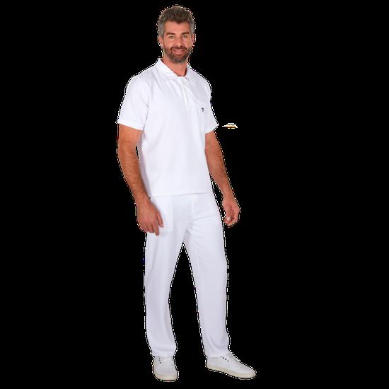 Pijama Cirúrgico Masculino Polo Mr. Kitsch Branco - FUN WORK
