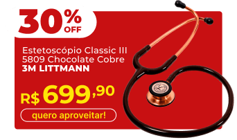 Estetoscópio Littmann Classic III 5809 Chocolate Cobre 3M